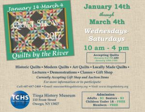 Quilts by the River Exhibition @ Tioga County Historical Society | Owego | New York | United States